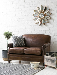 Leather Chesterfield Two Seater Sofa - sofas