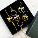 Bee Necklace And Earrings Gift Set