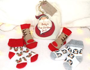 Personalised Christmas Sock And Decoration