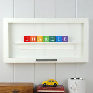 Personalised Miniature Name Alphabet Block Frame - family & home