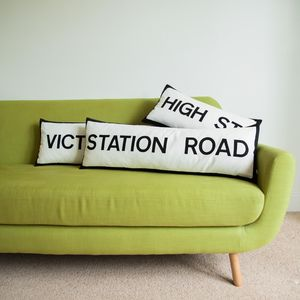 Street Name Cushion - room decorations
