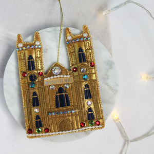 Gold Fabric London Westminster Abbey Decoration - tree decorations