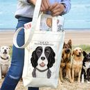 Canvas Dog Print Bucket Bag 67 Breeds Available