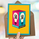 50th Milestone Birthday Card 'Shine On'