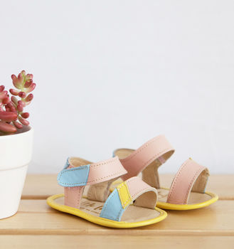 Miami Pastel Leather Baby Sandals