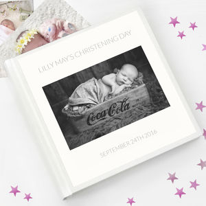 Christening Guest Book And Photo Album