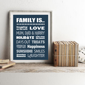 Personalised Family Is.. Print - new in prints & art