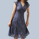 Special Occasion Lace Dress In Amythest Flower Lace