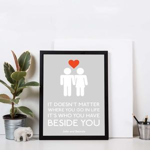 Personalised Beside You Print