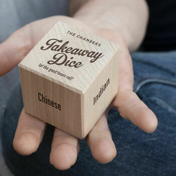 Wooden Takeaway Dice