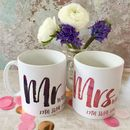 Personalised Contemporary Mr And Mrs Mugs