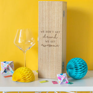 Get Awesome Quote Wine Box Gift For Best Friend - kitchen