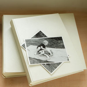 Linen Wedding Photo Album - albums & guest books