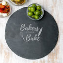 Bakers Gonna Bake Slate Cake Stand Or Cake Plate