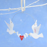 Personalised Valentine's Day Love Birds - christmas decorations