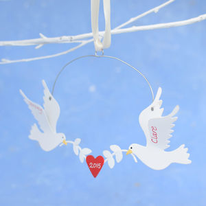Personalised Valentine's Day Love Birds - room decorations