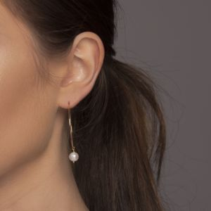 Gold Or Silver Freshwater Pearl Drop Earrings - new in wedding styling