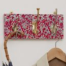 Red Berry Pattern Mismatched Coat Rack In Three Sizes