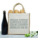 'Nutritious Prosecco' Mum's Shopping Bag