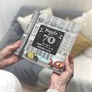 Personalised 70th Birthday Book 'Memory Lane'