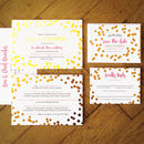 Confetti Swirl Foil Wedding Invitation