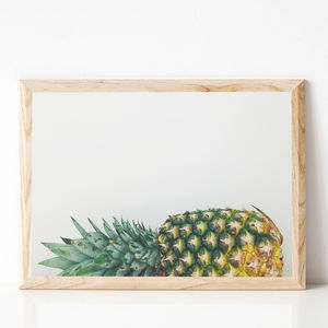 Fallen Pineapple Photographic Fruit Print - food & drink prints