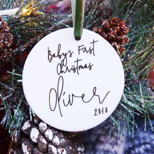 First Christmas Baby Keepsake Decoration