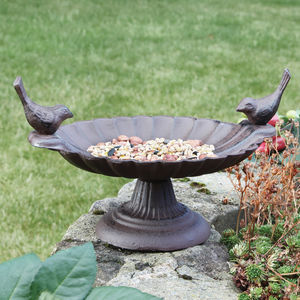 Antique Style Cast Iron Standing Bird Bath Gift - shop by price