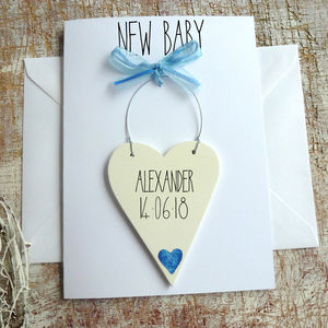 New Baby Boy Personalised Card - new baby cards
