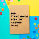 'Like A Father' Funny Father's Day Card