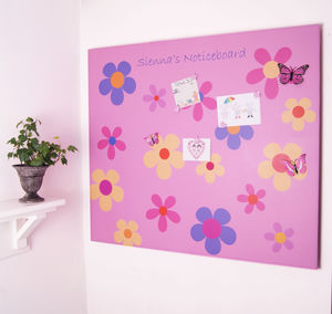 Giant Flower Power Magnetic Noticeboard - noticeboards