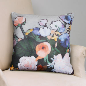 Flower Print Cushion Cover
