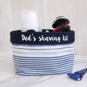 Personalised Striped Fabric Storage Caddy