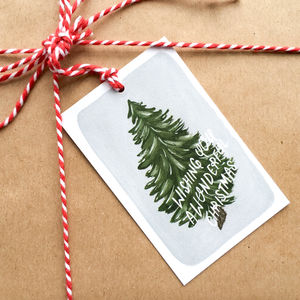 Wonderful Christmas Tree Gift Tags - finishing touches