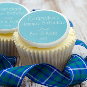 Grandad Birthday Cupcake Decorations