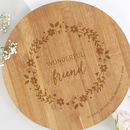 Gift For Friend Floral Personalised Wooden Board