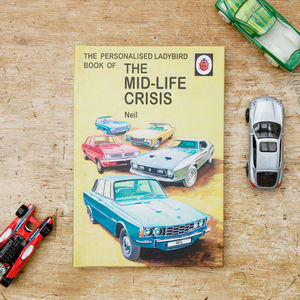 Personalised Ladybird Mid Life Crisis Book - 30th birthday gifts