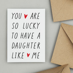 Personalised Like Me Father's Day Or Mother's Day Card