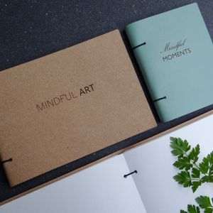 'Mindfulness' Recycled Leather Journal Sketchbook