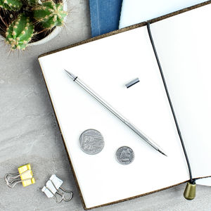 Luxury Stainless Steel Multi Notebook Pen Pencil