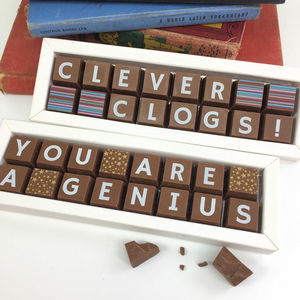 Personalised Clever Clogs Genius Chocolate Gift - chocolates & confectionery
