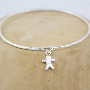 Silver Little People Bangle