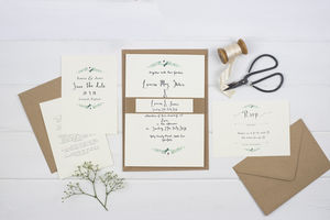 'Simplicity' Watercolour Wedding Invitation Suite