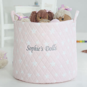 Personalised Pink Star Storage Bag