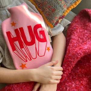 Hug Valentine Personalised Hot Water Bottle