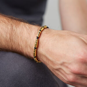 Men's Gold Vermeil Personalised Morse Code Bracelet