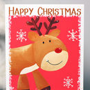 Personalised Reindeer Family Christmas Card