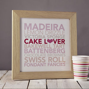 Cake Lover Framed Print - new in prints & art