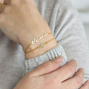 Mama Birthstone Layered Bracelet Set - personalised gifts