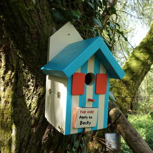 Personalised Handcrafted Bird House - birds & wildlife
